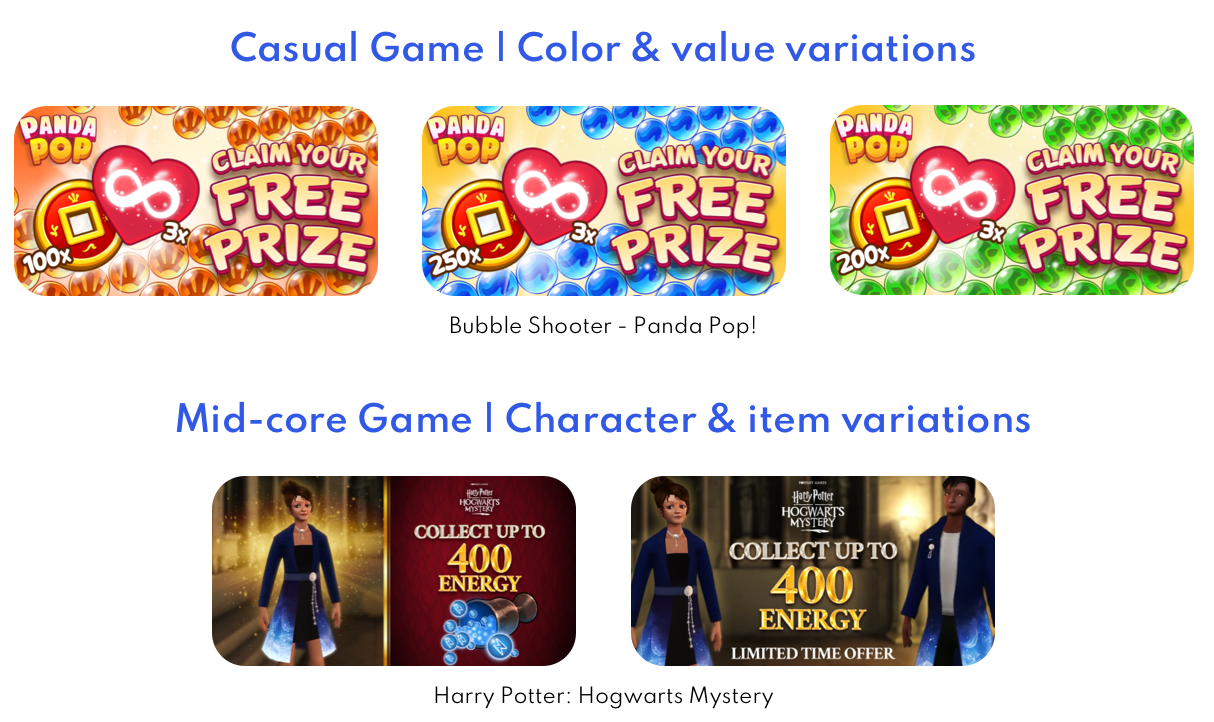 App Retargeting tips Casual and Mid Core Games Ad Set 3